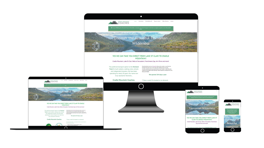 Cradle Mountain Coaches website development