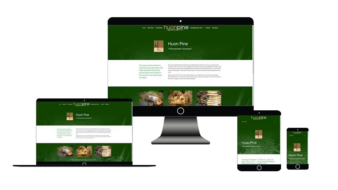 Huon Pine Website Development Tasmania