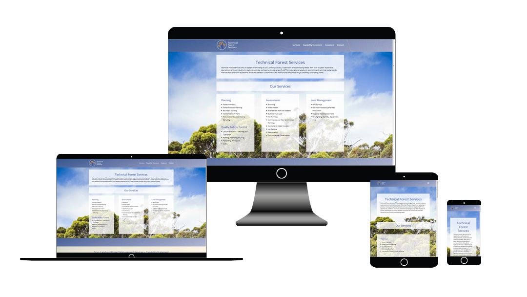 Technical Forest Services website development