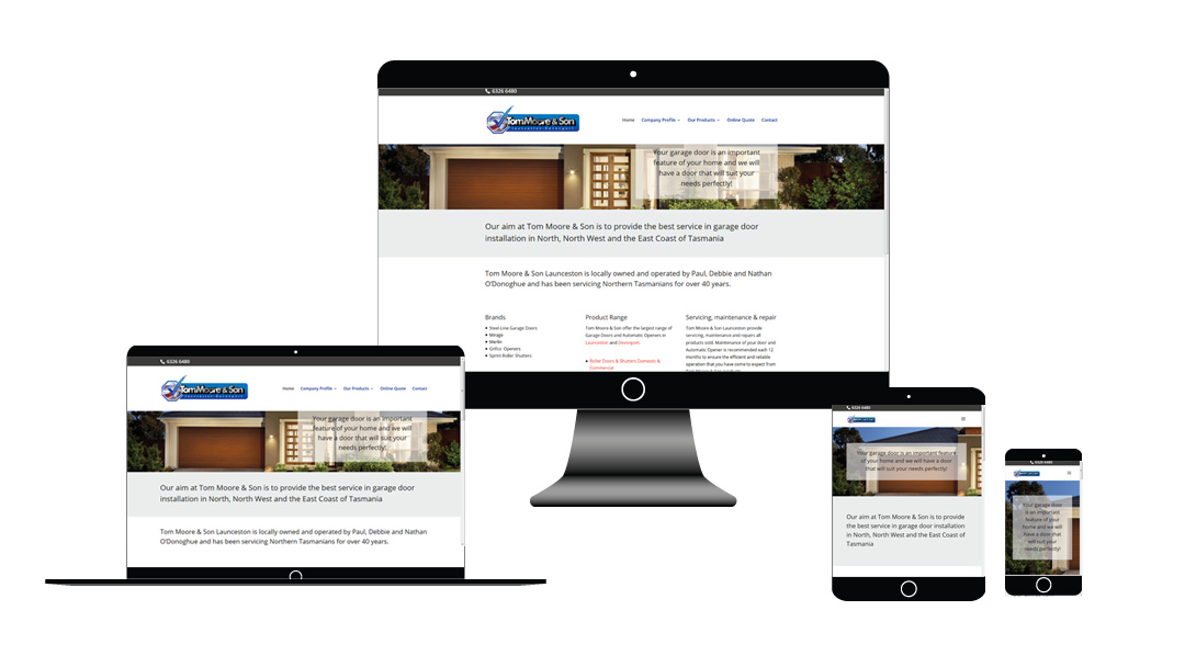 Tom Moore & Son website development tasmania