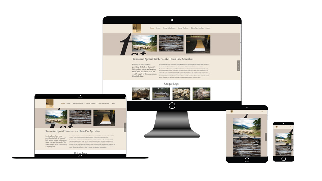 Tasmanian Special Timbers website development